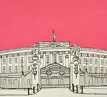 Buckingham Palace ( Pink ) by Adam Regester