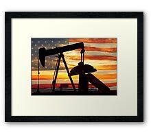American Oil  Framed Print