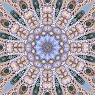 Blue Stone Mandala: चिकना असहज  (UF1160) by barrowda