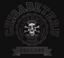 BENE PARATE CGD COLLEGE / BLACK ON BLACK T-Shirt
