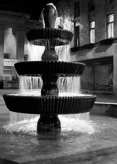 Fountain in Dundee City Square.Scotland by Forfarlass