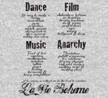 La Vie Boheme B - Rent - Dance, Film, Music, Anarchy - Black by Hrern1313