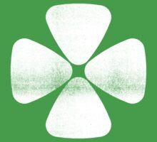 Four Leaf Clover - White by RetroLogos