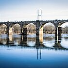 Railroad Bridge on the Delaware by Thliii