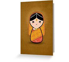 Kokeshi - Hindu Bride Greeting Card