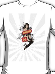 a Censored Sexy Woman Vintage Graphic T-Shirt