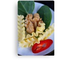 Reginette, Spinach, Walnut and Spicy Italian Dreams Canvas Print