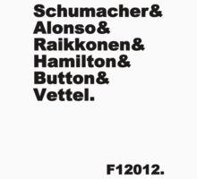 6 World Champions F12012 (black text) by Tom Clancy