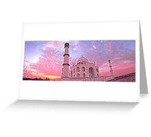 Taj Mahal Pink Sunset Greeting Card