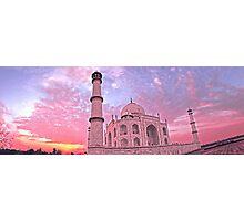 Taj Mahal Pink Sunset Photographic Print