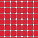 Optical illusion - dancing dots red by Smutesh Mishra