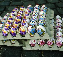 Painted Easter Eggs by Eva Kato