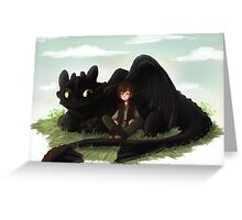Toothless and Hiccup- HTTYD Greeting Card
