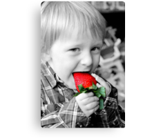 Strawberry Red Canvas Print