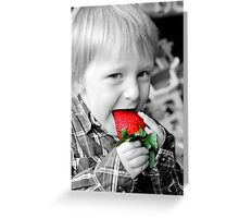 Strawberry Red Greeting Card