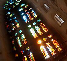 Windows Of Sagrada Familia by Sue Knowles