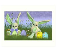 Easter Bunny Children's Wall Art Art Print