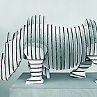 Rhino Art by Heather Wade
