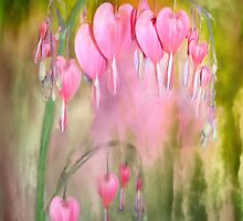Tree Of Bleeding Hearts by Carol  Cavalaris