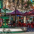 Rundle Mall - Fountain and Cafe by DPalmer