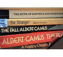 The Pages of Camus Photographic Print