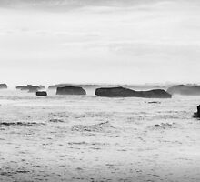 Australia - Great Ocean Road - BW I by lesslinear