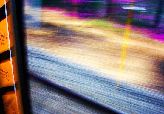 Train From Window - 11 03 13 by Robert Phillips