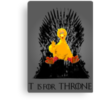 T is for Throne Canvas Print