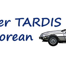 My other TARDIS is a Delorean Sticker