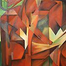 &quot;Foxes&quot; -  Homage to Franz Marc (1913)     by taiche