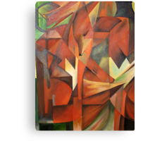 """""""Foxes"""" -  Homage to Franz Marc (1913)     Canvas Print"""