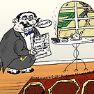 Mixed market signals financial cartoon by Binary-Options