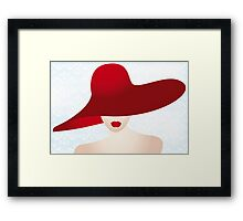 Portrait of the lady with the red hat Framed Print