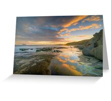 Reflections of Sunset. Greeting Card