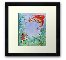 Knights and Dragons Framed Print