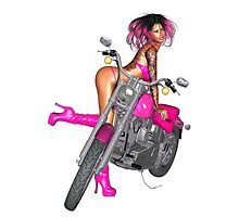Biker Chick .. iphone case by LoneAngel