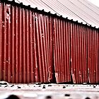 Rusting Corrugated Iron Roof by TheGatsby