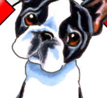 Boston Terrier :: First Mate Sticker