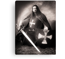 Knight of the Blue Company Canvas Print