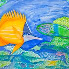 yellow and parrott fish. ipad. iphone by terezadelpilar~ art & architecture