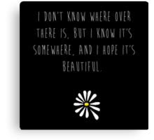 Looking For Alaska Canvas Print