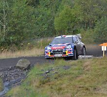 Loeb Citroen DS3 emerging from the corner by Nixcy