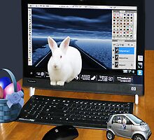 ??? COMPUTER BUNNY HOPPING OUT TO SAY HAPPY EASTER TO ALL??? by ✿✿ Bonita ✿✿ ђєℓℓσ