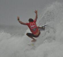 Taj Burrows - Quater Finals - Quicksiver Pro 2013 by mbutwell