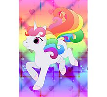 Cute Baby Rainbow Unicorn Photographic Print