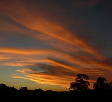 Sunset in Wilmot Tasmania by Josie Jackson