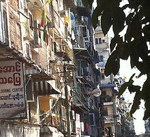 Yangon Streetscape by Nic  K