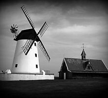 Lytham Windmill and Lifeboat station by Lilian Marshall