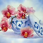 Orchid in a Japanese Bowl by Ann Mortimer