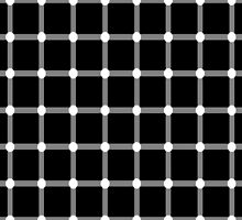 Optical illusion - dancing dots by Smutesh Mishra
